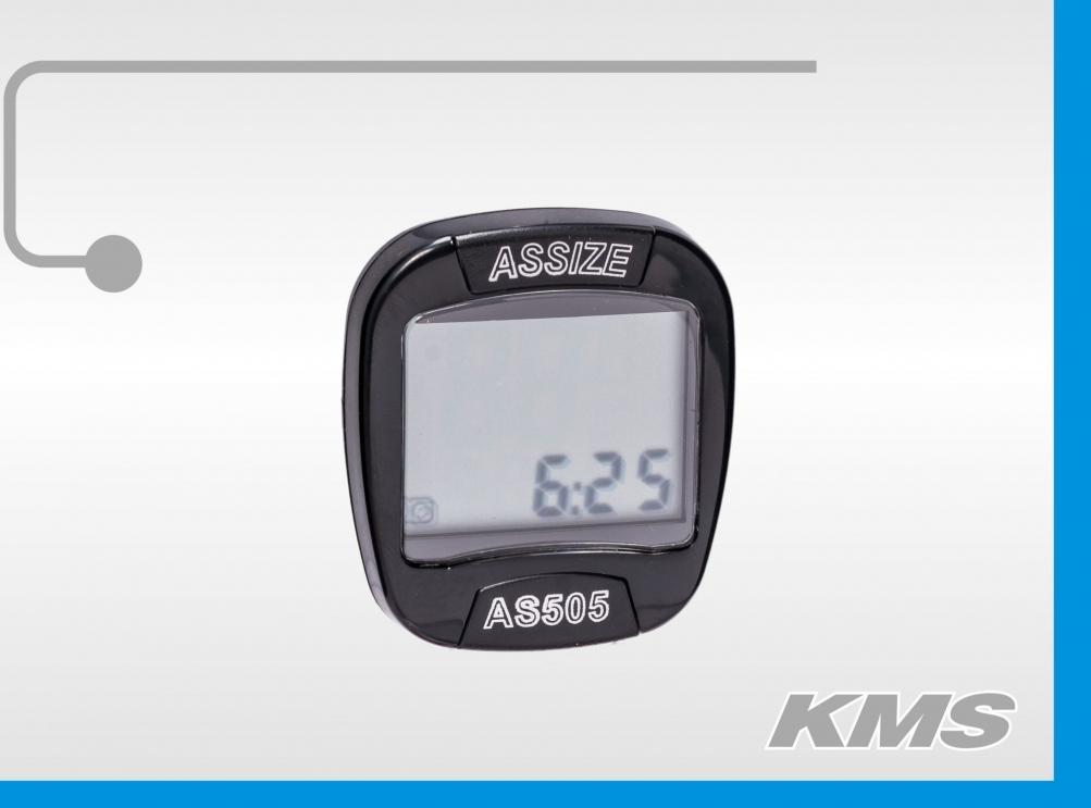 Велокомпьютер AS505 большой экран 330505 11функ.