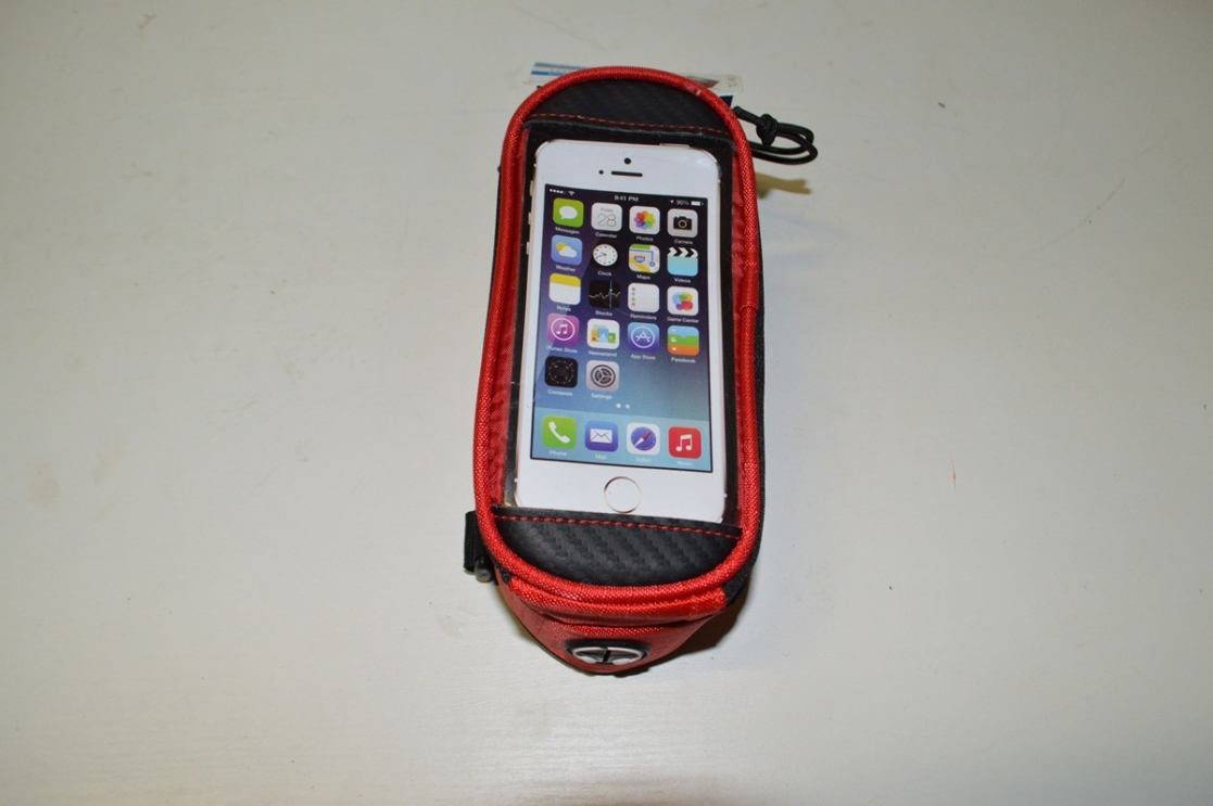 Сумка Roswheel для телефона на руль красная X94985